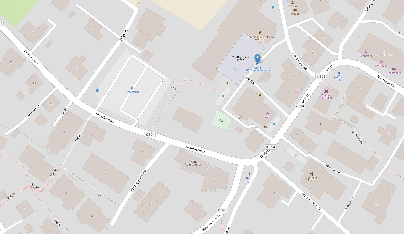 Karte Gemeindehaus Möriken